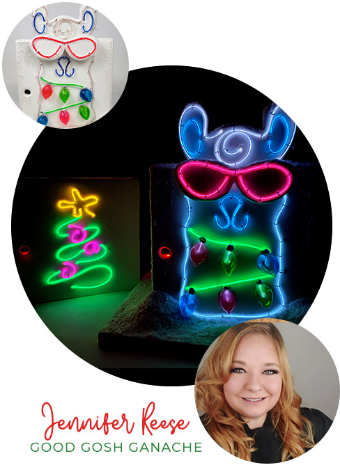 LIT Christmas! Special Effects Neon Cake with Jennifer Reese